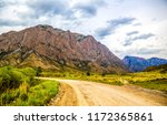 mountain valley road landscape. ... | Shutterstock . vector #1172365861
