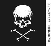 skull and crossbones in grunge... | Shutterstock .eps vector #1172374744