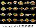 variety of dishes of vietnamese ... | Shutterstock . vector #1172383237