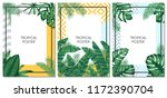 summer tropical vector set... | Shutterstock .eps vector #1172390704