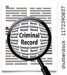 magnifying glass  criminal...   Shutterstock .eps vector #1172390857