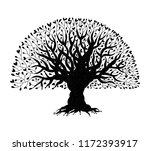 big tree with roots for your... | Shutterstock .eps vector #1172393917