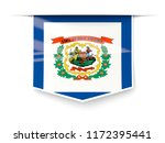 west virginia state flag square ... | Shutterstock . vector #1172395441