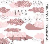 vector hand drawn doodle pink... | Shutterstock .eps vector #1172397067
