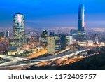 skyline of santiago de chile...   Shutterstock . vector #1172403757