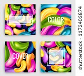 set of vector colorful cards.... | Shutterstock .eps vector #1172403874