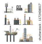 set of petroleum machinery | Shutterstock .eps vector #1172408017