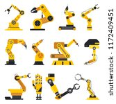 set of isolated robotic... | Shutterstock .eps vector #1172409451