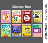 sale and offer collection of... | Shutterstock .eps vector #1172409487