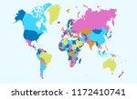 color world map vector | Shutterstock .eps vector #1172410741