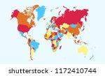 color world map vector | Shutterstock .eps vector #1172410744
