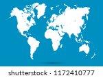 color world map vector | Shutterstock .eps vector #1172410777