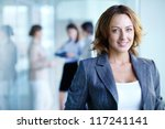 image of pretty businesswoman... | Shutterstock . vector #117241141