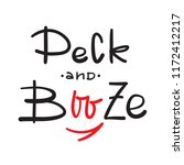 peck and booze   simple inspire ... | Shutterstock .eps vector #1172412217