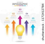 infographic template for... | Shutterstock .eps vector #1172412784