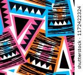 seamless brushpen doodle... | Shutterstock .eps vector #1172422324