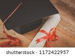 mortarboard or graduation cap...   Shutterstock . vector #1172422957