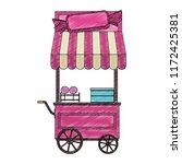 sugar cotton cart scribble | Shutterstock .eps vector #1172425381