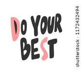 do your best. sticker for... | Shutterstock .eps vector #1172432494