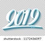 merry christmas and happy new... | Shutterstock .eps vector #1172436097