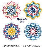 set of colorful madala round... | Shutterstock .eps vector #1172439637