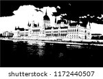 the hungarian parliament... | Shutterstock .eps vector #1172440507
