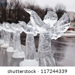 Icy Sculpture Of Frozen Angel...