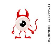 red monster for halloween with... | Shutterstock . vector #1172444251
