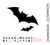vampire bat icon | Shutterstock .eps vector #1172449174