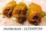 traditional turkish dessert... | Shutterstock . vector #1172459734