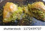 traditional turkish dessert... | Shutterstock . vector #1172459737