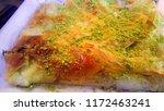 traditional turkish dessert... | Shutterstock . vector #1172463241