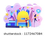 big backpack  books  teacher... | Shutterstock .eps vector #1172467084