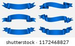 ribbon banner set. blue ribbons.... | Shutterstock .eps vector #1172468827