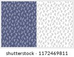 hand drawn floral vector... | Shutterstock .eps vector #1172469811