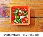 Stock photo thai fish sauce with chili and lime nam pla prik 1172482501