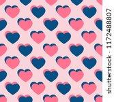 hearts seamless pattern....   Shutterstock . vector #1172488807