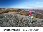 photographer takes pictures on... | Shutterstock . vector #1172490004