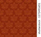 seamless pattern maple leaf... | Shutterstock .eps vector #1172491651
