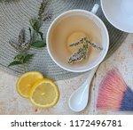 herbal tea with mint and lemon. ...   Shutterstock . vector #1172496781