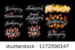 hand drawn happy thanksgiving... | Shutterstock . vector #1172500147
