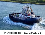 panama canal authority tug boat ... | Shutterstock . vector #1172502781