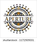 aperture arabic badge.... | Shutterstock .eps vector #1172505031