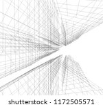 architecture 3d illustration | Shutterstock . vector #1172505571
