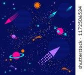 space flat vector background... | Shutterstock .eps vector #1172506534