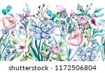 seamless watercolor frame... | Shutterstock . vector #1172506804