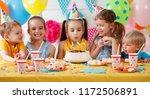 children's birthday. happy kids ... | Shutterstock . vector #1172506891