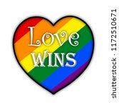 rainbow gay pride flag heart ... | Shutterstock . vector #1172510671