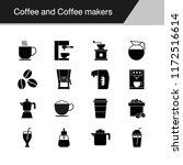 coffee and coffee makers icons. ... | Shutterstock .eps vector #1172516614