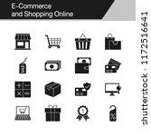 e commerce and shopping online... | Shutterstock .eps vector #1172516641